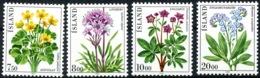 Island 1983: Lychnis Alpina Potentilla Palustris Caltha Palustris Myosotis Scorpioides Flowers Michel 592-595 ** MNH - Pflanzen Und Botanik