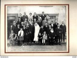 Creuse PHOTO SUR CARTON  PHOTO  DE  MARIAGE Avec  ACORDEONISTE   Par LUQUET !!! - Personnes Anonymes