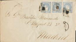 España. Gobierno Provisional. Gobierno Provisional. Triple Porte. MAGNIFICA. - 1868-70 Gobierno Provisional