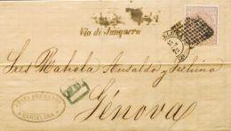 España. Gobierno Provisional. Gobierno Provisional. Dirigida A GENOVA. MAGNIFICA. - 1868-70 Gobierno Provisional