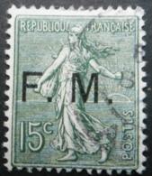 FRANCE Franchise Militaire Type Semeuse Lignée N°3 Oblitéré - 1903-60 Sower - Ligned