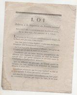 Loi 1792 - Documents Historiques