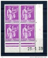 France  -  Coins Datés  :  Yv  371  ** ,  CD 23-1-39 - Coins Datés