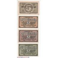 NOTGELD - LIEBEROSE - 4 Different Notes (L065) - Coins