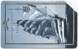 ITALY H-596 Magnetic Telecom - Traffic, Historic Sailship - Used - Italien