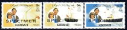 Kiribati 1981 Royal Wedding Set Of 3, Overprinted SPECIMEN, MNH, SG 149/54 (BP2) - Kiribati (1979-...)