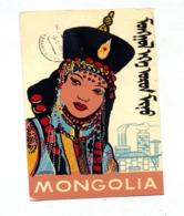 Carte Femme  Cachet Sur Musique Croix Rouge - Mongolia