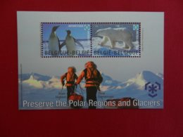 Planche De Timbres Neufs - Belgique - Preserve The Polar Régions And Glaciers - 2009 - Foglietti