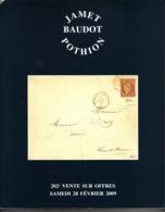 France Catalogue Vente JAMET-BAUDOT N° 202 Février 2009 Comme Neuf ! - Cataloghi Di Case D'aste