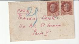 Lettre Pneumatique  (format Carte De Visite) Avec Type Pétain , 1944 - France