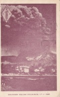 CHILE - ERUPCION VOLCAN VILLA-RICA. POSTALE CPA CIRCULEE ANNEE 1951 A BUENOS AIRES, ARGENTINA. QSR PUCON -LILHU - Cile