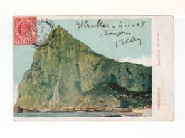 Sur CPA De Gibraltar Pour La France CAD Gibraltar 3 JA 1908 Sur Timbre One Penny Postage Gibraltar. (3395) - Gibilterra