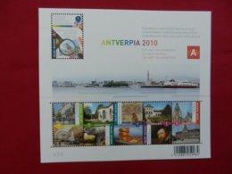 Planche De Timbres Neufs - Belgique - Antverpia 2010 - Le Coeurd'Anvers - Panes