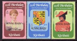 Kiribati 1982 Princess Diana Royal Baby Overprints Set Of 3, MNH, SG 186/8 (BP2) - Kiribati (1979-...)