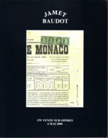 France Catalogue Vente JAMET-BAUDOT N° 179 Mai 2000 Comme Neuf ! - Catalogues De Maisons De Vente