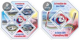 Djibouti 2018, Olympic Sochi & PyeongChang, 4val In BF +BF - Winter 2018: Pyeongchang