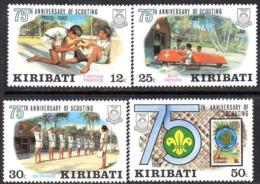 Kiribati 1982 75th Anniversary Of Scouting Set Of 4, MNH, SG 189/92 (BP2) - Kiribati (1979-...)
