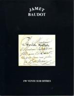 France Catalogue Vente JAMET-BAUDOT N° 178 Décembre 1999 Comme Neuf ! - Cataloghi Di Case D'aste