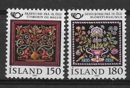 ISLAND 1980 FLOWERS, BIRDS, Handcrafts  MNH - Altri