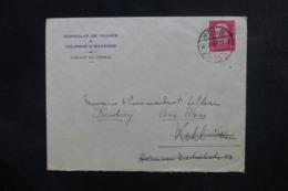 ALLEMAGNE - Enveloppe Du Consulat De France De Köln Pour La France En 1929, Affranchissement Plaisant - L 46659 - Storia Postale