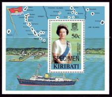 Kiribati 1982 Royal Visit MS Overprinted SPECIMEN, MNH, SG 196 (BP2) - Kiribati (1979-...)