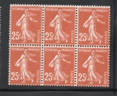 BLOC DE 6 SEMEUSE YT 235  NEUF ** - 1906-38 Semeuse Con Cameo