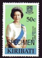 Kiribati 1982 Royal Visit 50c Stamp Ex MS Overprinted SPECIMEN, MNH, SG 196 (BP2) - Kiribati (1979-...)