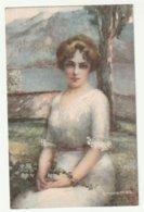 Illustrateur Monestier Jeune Femme Robe Blanche Serie 2 - Monestier, C.