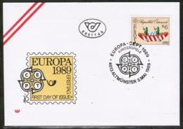 CEPT 1989 AT MI 1956 AUSTRIA FDC - Europa-CEPT