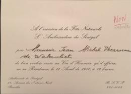 Invitation Ambassadeur Du Sénégal à L'occasion De La Fête Nationale. - Documents Historiques