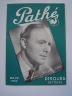 BROCHURE MUSIQUE : DISQUES PATHE / DENS / DASSARY / BOURVIL / HELIAN 1952 - Music & Instruments