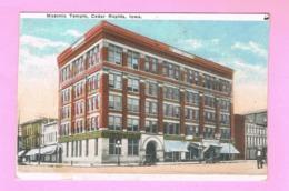 U.S.A. IOWA. CEDAR RAPIDS. MASONIC TEMPLE. - Cedar Rapids