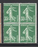 BLOC DE 4 SEMEUSE YT 361  NEUF ** - 1906-38 Semeuse Con Cameo