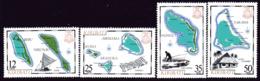 Kiribati 1983 Island Maps II Set Of 4, MNH, SG 201/4 (BP2) - Kiribati (1979-...)