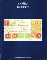 France Catalogue Vente JAMET-BAUDOT N° 177 Juin 1999 Comme Neuf ! - Cataloghi Di Case D'aste