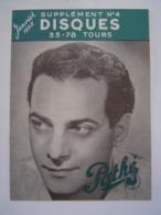BROCHURE MUSIQUE : DISQUES PATHE 1952 - Music & Instruments