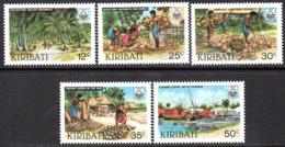 Kiribati 1983 Copra Industry Set Of 5, MNH, SG 205/9 (BP2) - Kiribati (1979-...)