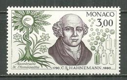 MONACO MNH ** 1739 Découverte De L'homéopathie S. Hahnemann Santé Médecine - Monaco