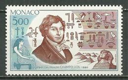 MONACO MNH ** 1740 Jean Francois Champollion Hiéroglyphes Hiéroglyphe - Monaco