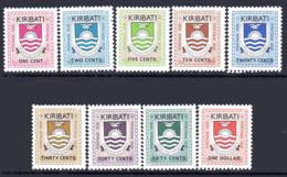 Kiribati 1981 Postage Dues Set Of 9, MNH, SG D1/9 (BP2) - Kiribati (1979-...)