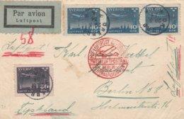 Suède Lettre Par Avion Pour L'Allemagne 1934 - Briefe U. Dokumente