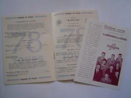 BROCHURE MUSIQUE : DISQUES PATHE MARCONI - COLUMBIA / COMPAGNONS DE LA CHANSON 1951 - Music & Instruments