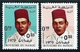 Marruecos Nº 598/9 (sobrecarga) Nuevo Cat.10€ - Marokko (1956-...)