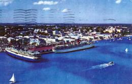 BAHAMAS, Prince George Dock, Nassau, Seltene Frankierung, Gelaufen 1957 Von Nassau Nach New York - Bahamas
