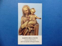 Santino Holy Card Image Pieuse Madonna Della Salute Reggio Emilia - Santini