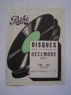 BROCHURE MUSIQUE : DISQUES PATHE MARCONI 1951 - Music & Instruments