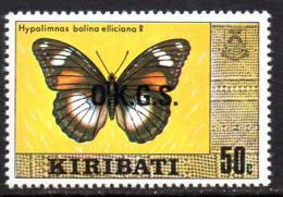 Kiribati 1981 50c OKGS Butterfly Official, With Watermark, MNH, SG O7 (BP2) - Kiribati (1979-...)