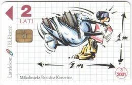 LATVIA A-152 Chip Lattelkom - Cartoon - Used - Lettland