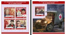 Djibouti 2018, Red Cross, Car, 4val In BF +BF - Rotes Kreuz