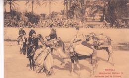 TRIPOLI - GIORNALISTI ITALIANI IN PARTENZA PER LE TRINCEE. POSTALE CPA CIRCA 1920's NON CIRCULEE -LILHU - Liberia